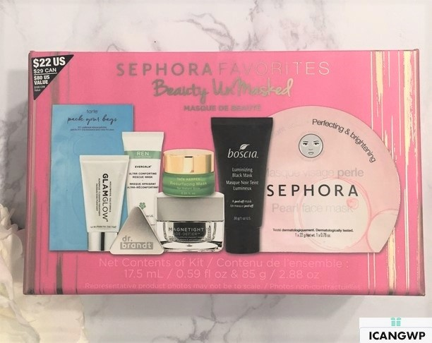 sephora favorites beauty unmasked 2017 reviews by IcanGWP blog box