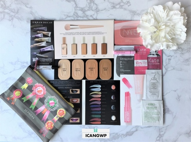 sephora holiday sample bag 2017 review by icangwp beauty blog coupon bag of cheer