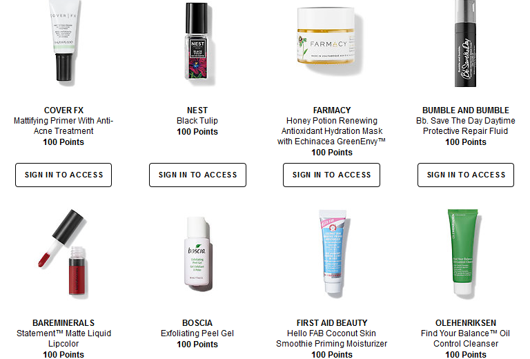 Welcome to the Beauty Insider Rewards Bazaar Sephora