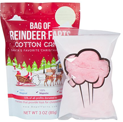 Amazon.com Bag of Reindeer Farts Cotton Candy Funny Unique Present Stocking Stuffer White Elephant Toys Games