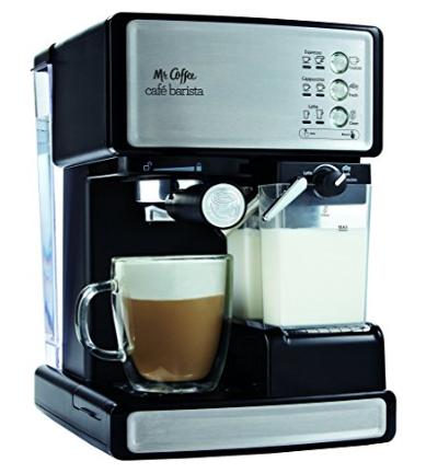 Amazon.com Mr. Coffee Café Barista Premium Espresso Cappuccino System Silver Semi Automatic Pump Espresso Machines Kitchen Dining