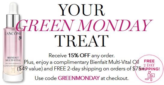 Lancôme green monday Luxury Cosmetics Perfume Skin