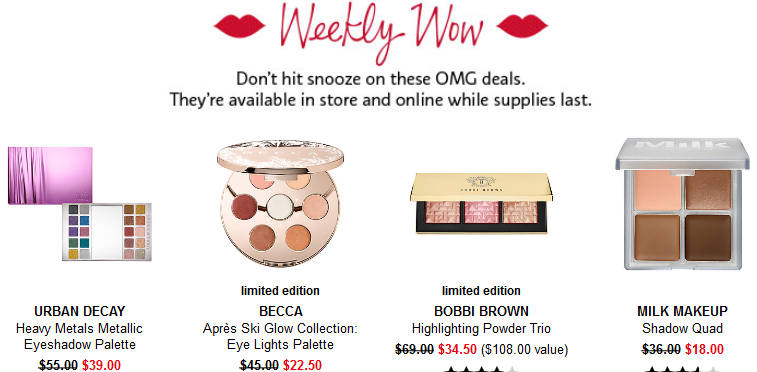 sephora weekly wow deals 12 14 2017 see more at icangwp beauty blog