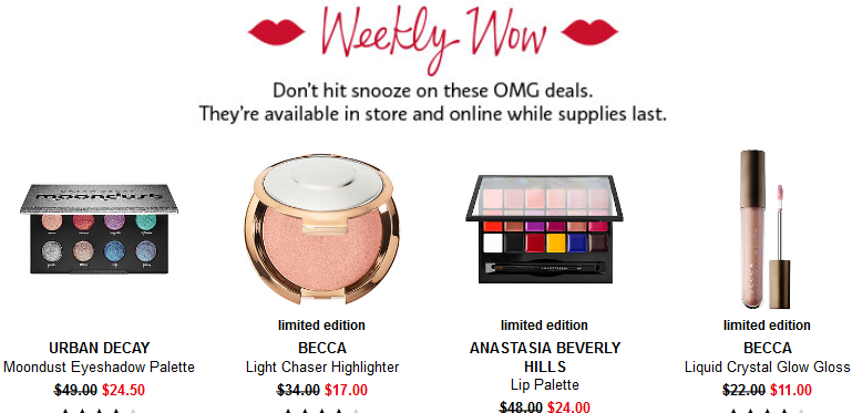 Sephora weekly wow deals 12 7 2017 see more at icangwp blog