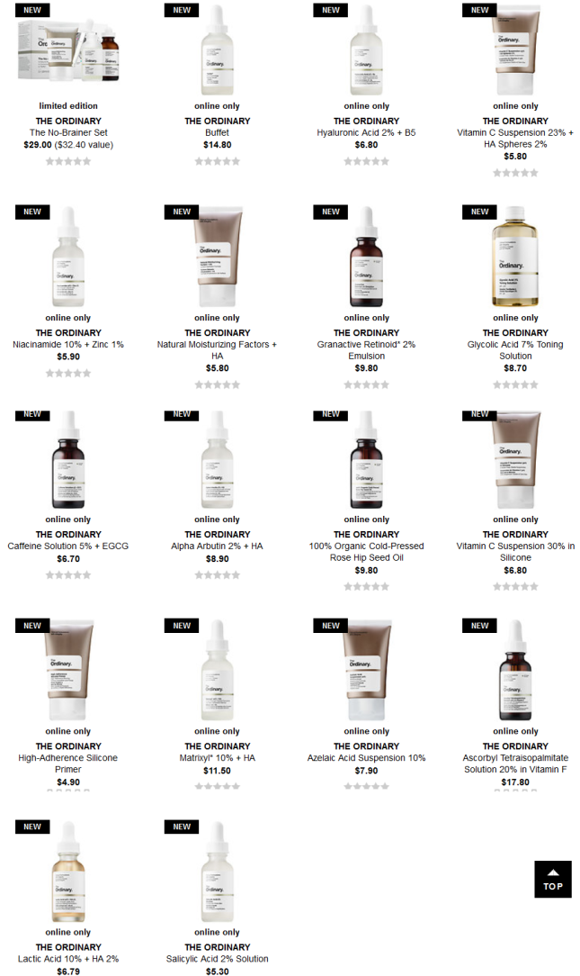 The Ordinary Sephora