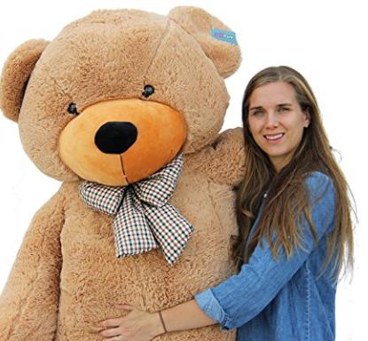 Amazon.com Joyfay Giant Teddy Bear 78 6.5 Feet Light Brown Toys Games