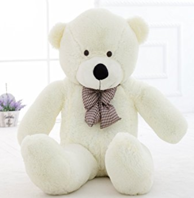 Amazon.com MorisMos 47 inch Big Cute Plush Teddy Bear Huge Plush Animals Teddy Bear for Girl Children Girlfriend Valentine s Day White 1.2M Toys Games