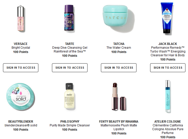 sephora canada Rewards Bazaar jan 2018 see more at icangwp gift with purchase blog