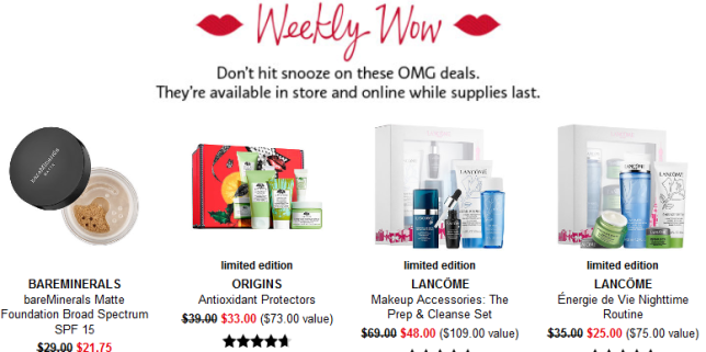 sephora weekly wow 1 11 jan 2018 2 see more at icangwp gift with purchase blog