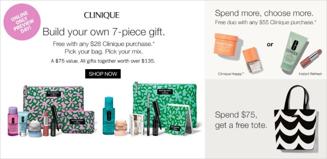Hot Clinique Bonus 7 Piece Samplers With 28 Purchase At
