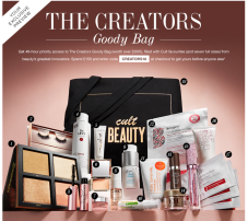 cult beauty goody bag 2018 spring see more at icangwp blog