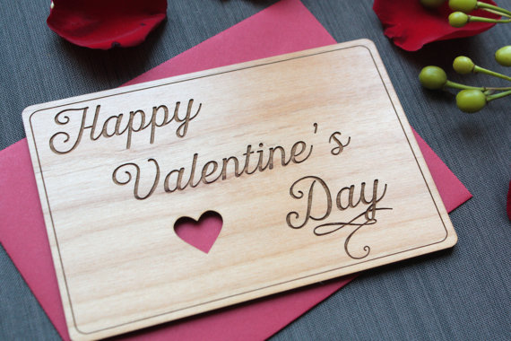 etsy wood valentine's greeting card
