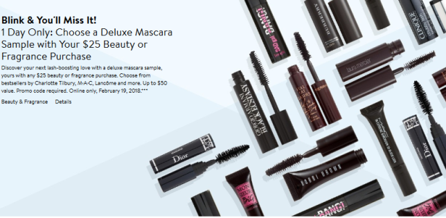 Gift with Purchase Nordstrom mascara
