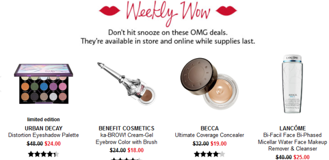 Sephora weekly wow feb 22 Coupons Promo Codes Coupon Codes Sephora