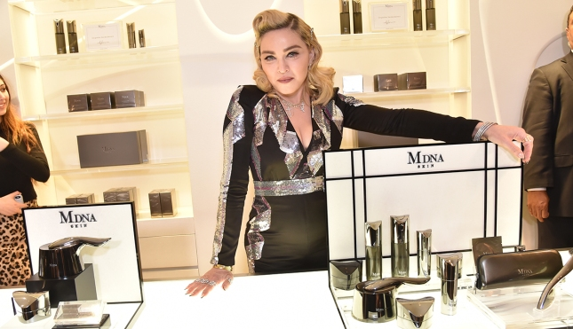 Madonna visits MDNA SKIN Counter at Barneys New York, Beverly Hills