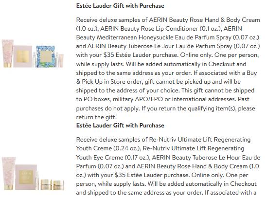 Nordstrom estee lauder gwp Beauty Brands