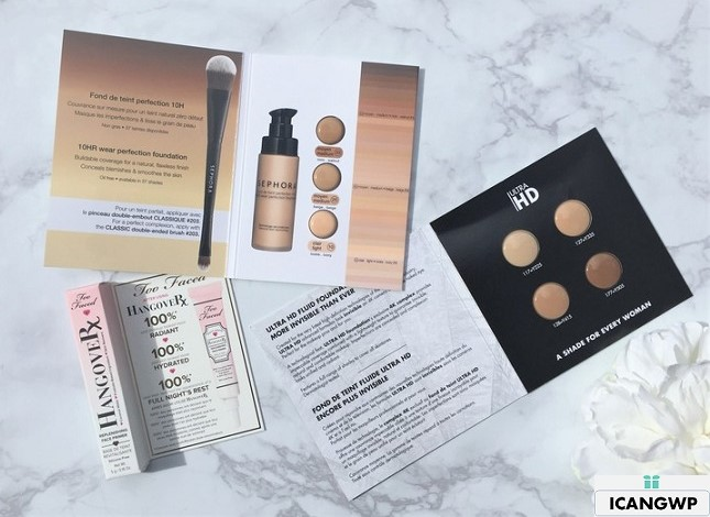 Unboxing Sephora Foundation Sample Bag 2018 and Sephora VIB