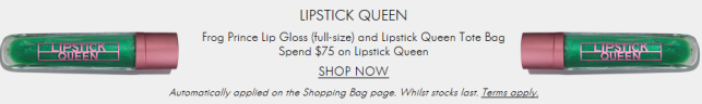 Space NK Apothecary lipstick queen mar 2018 see more at icangwp blog Offers and Gifts with Purchase