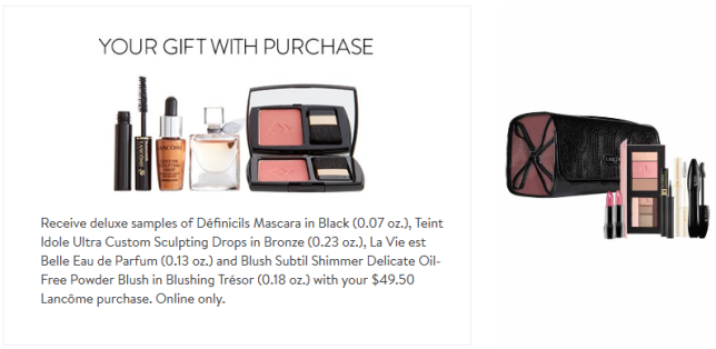 Lancôme Makeup Skincare Fragrance Gift with Purchase Nordstrom