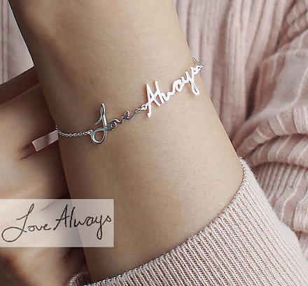 Personalized Gift Actual Handwriting Bracelet mothers day gift