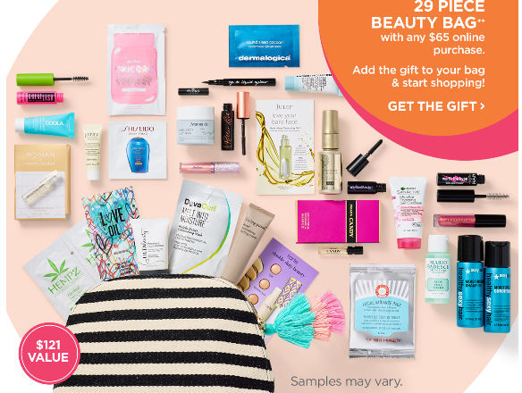 Gifts with purchase: ulta bags + cosmetic samples xoxo emmy.