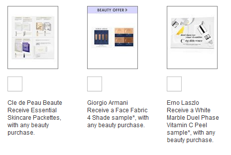 Neiman Marcus sample at checkout icangwp