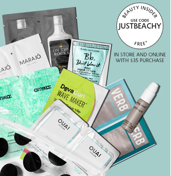 Sephora Hair care lovers sample hot products free with 35 purchase icangwp blog