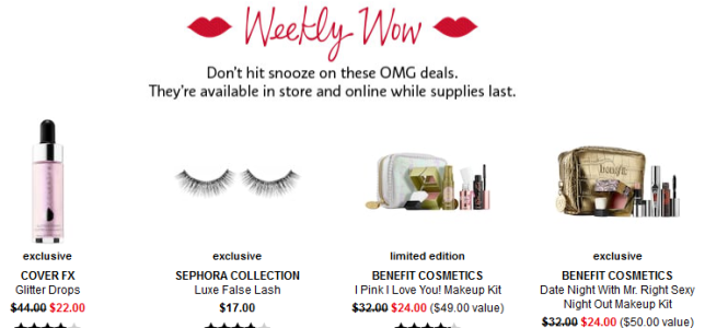 Sephora weekly wow deals Coupons Promo Codes Coupon Codes icangwp blog june 2018