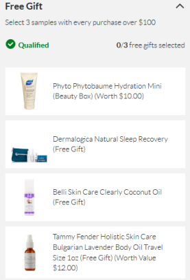 SkinStore coupon free gift with 100 icangwp blog