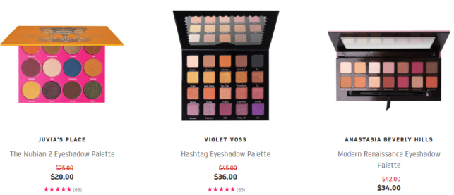 Beauty Bay palette sale