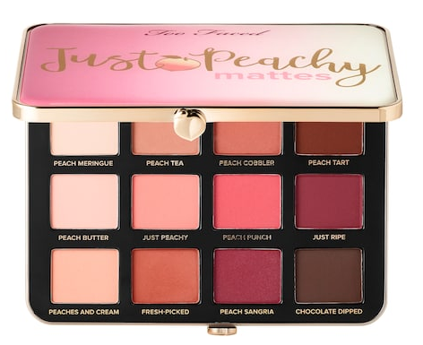 Just Peachy Velvet Matte Eyeshadow Palette – Peaches and Cream Collection Too Faced Sephora icangwp blog