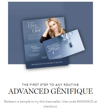 Lancôme coupon radiance Luxury Cosmetics Perfume Skin