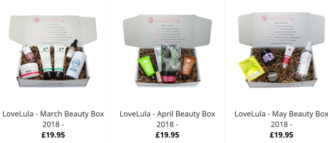 lovelula beauty box Special Offers Selection Boxes LoveLula FREE Delivery Worldwide