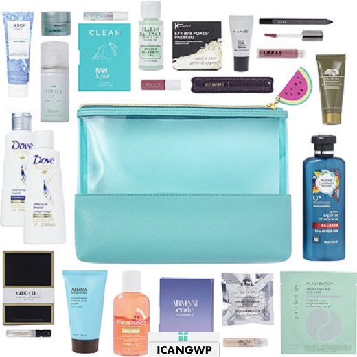 ulta 21 Pc Beauty Bag with any 75 icangwp blog watermelon icangpw blog