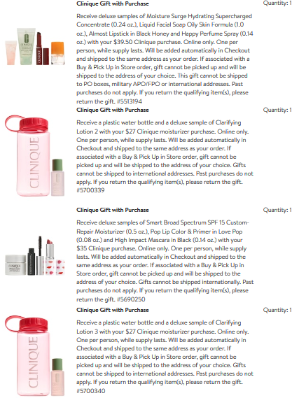 clinique Gift with Purchase Nordstrom aug 2018 icangwp beauty blog