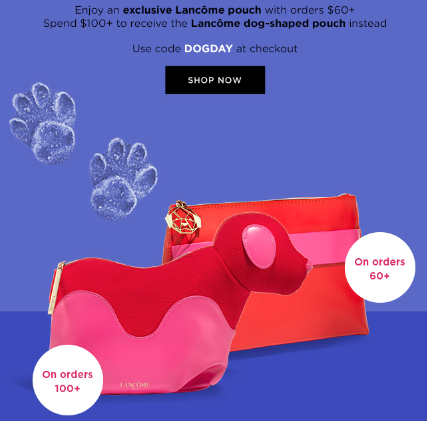 Lancôme Ruff Weekend 20 Off Dog Day Bags are Your Best Friends icangwp
