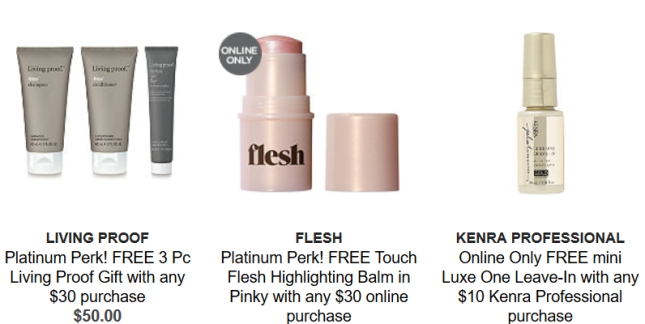 platinum Gifts with Purchase Ulta Beauty aug 2018 icangwp blog