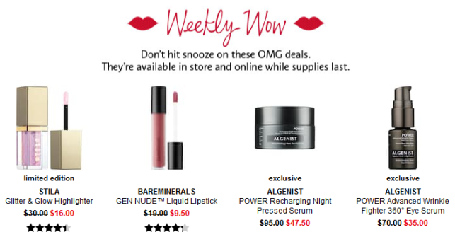 Sephora weekly wow Coupons Promo Codes Coupon Codes Sephora icangwp blog aug 2018
