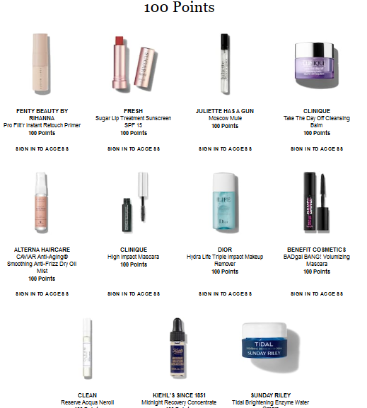 Beauty Insider Rewards Bazaar Sephora sept 2018 icangwp blog