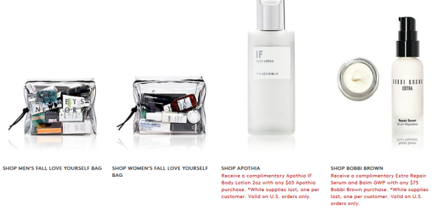 Gift with Purchase Barneys New York love yourself beauty event 2018 icangwp beauty blog