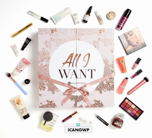 GLOSSYBOX-Advent-Calendar-beauty advent calendar 2018 icangwp blog-Worth-£300