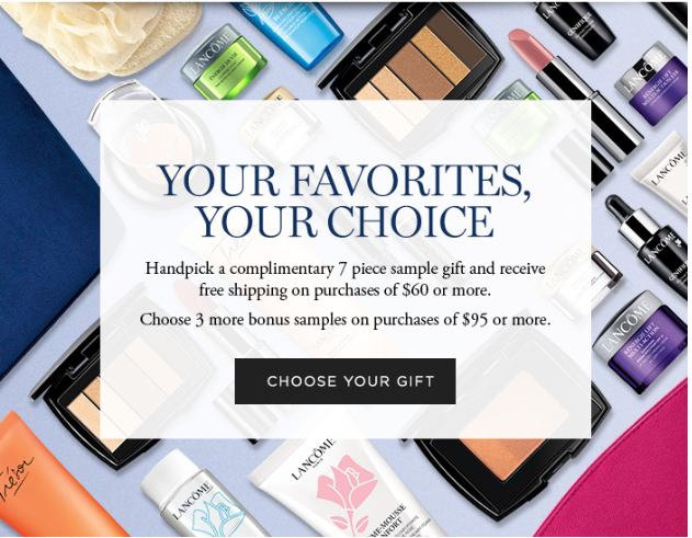 Lancôme Starting Today Choose ANY 10 Samples icangwp blog sept 2018