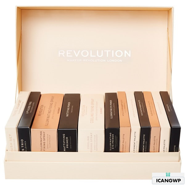 Make-Up-Revolution-12-Days-Of-Christmas-Makeup- makeup revolution advent calendar 2018 icangwp beauty blog 2