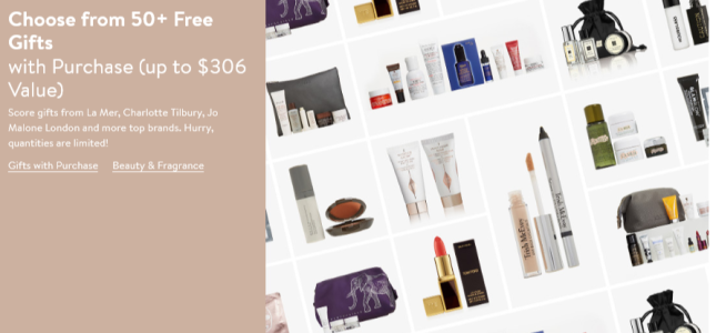 Nordstrom triple points and free gift with purchase icangwp blog sept 2018