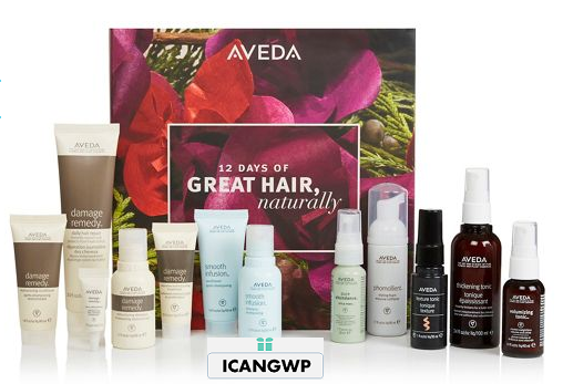 Aveda 12 Day advent calendar 2018 icangwp blog