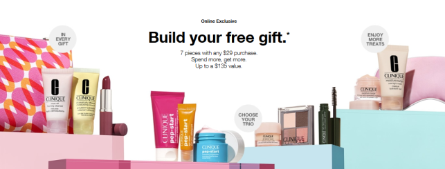 Free 7 piece gift Clinique Clinique
