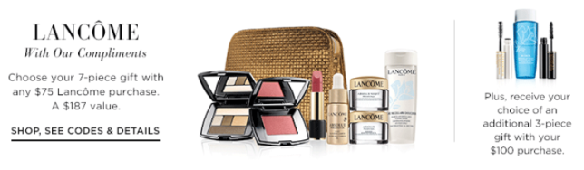 lancome Gifts with Purchase atsaks icangwp blog oct 2018