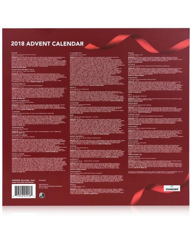 macys beauty advent calendar 2018 icangwp blog