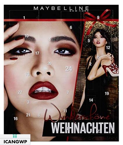 Maybelline New York Advent Calendar 2018 Beauty advent calendar 2018 icangwp blog