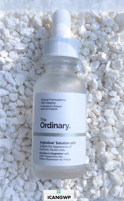 the ordinary skincare Argireline Solution 10 percent review by icangwp blog